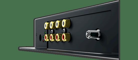 trivum SC044 Line-In und UKW-Antennen Anschlüsse