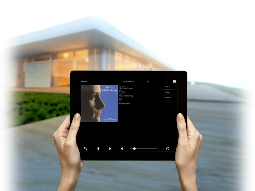 trivum Multiroom System gesteuert per Tablet
