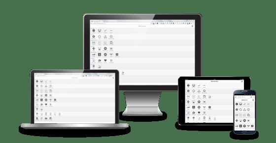 Einfache Konfiguration über jedes browserfähige Gerät.