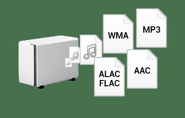 trivum Multiroom Player spielen auch Audiofiles von einer NAS